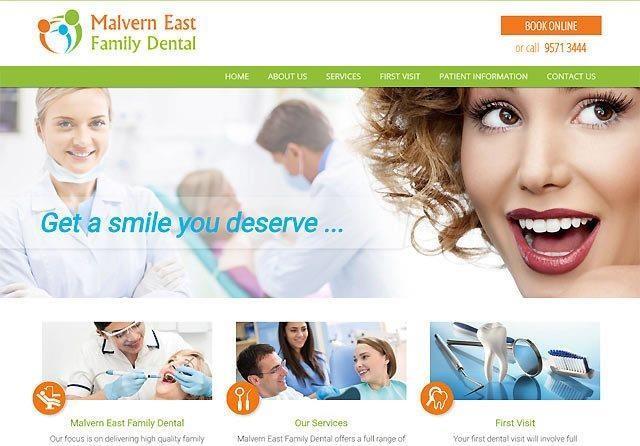 Malvern East Family Dental   Custom Website Design