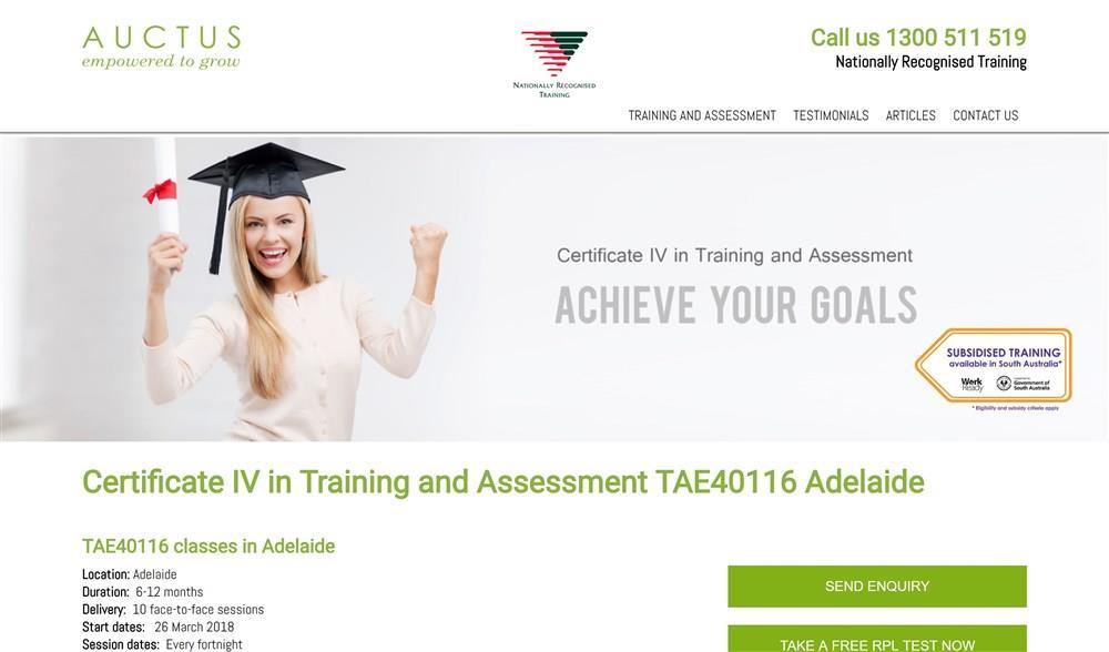 Auctus Certificate IV in Training
