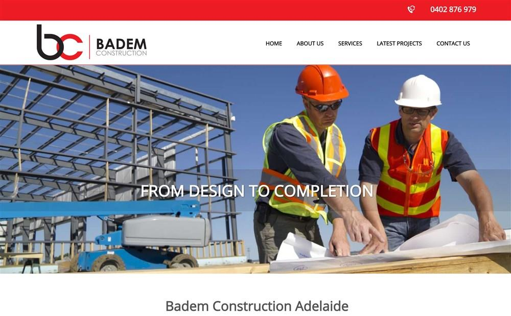 Badem Construction Website Design