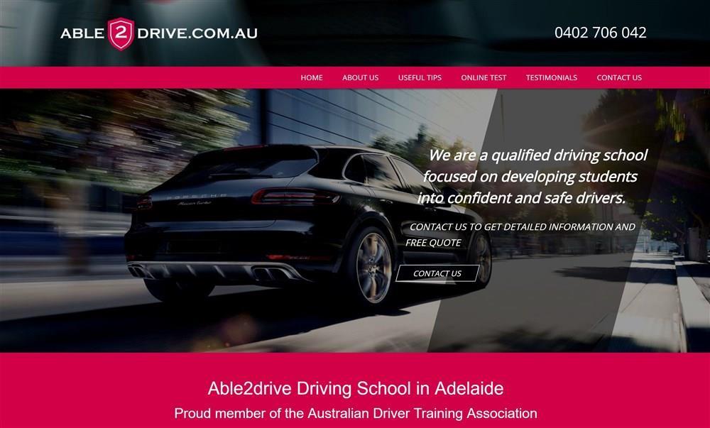 Able2drive Website Design
