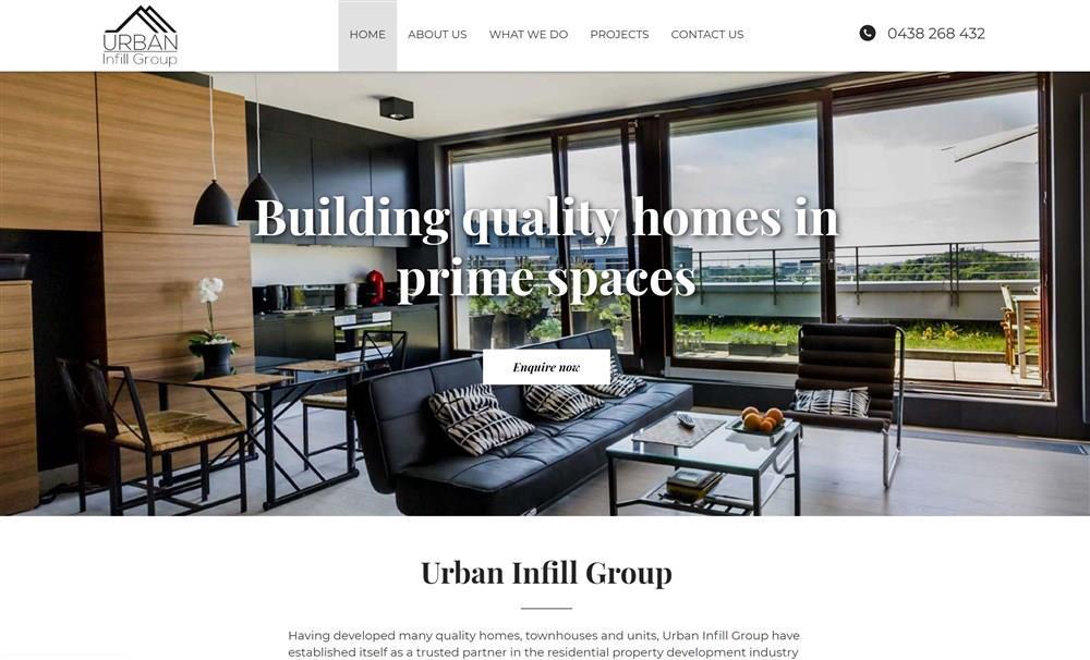 UrbanIfill Group Website Design