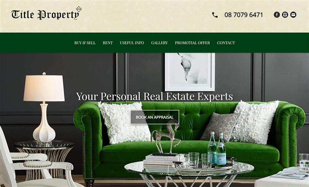 Title Property Website development
