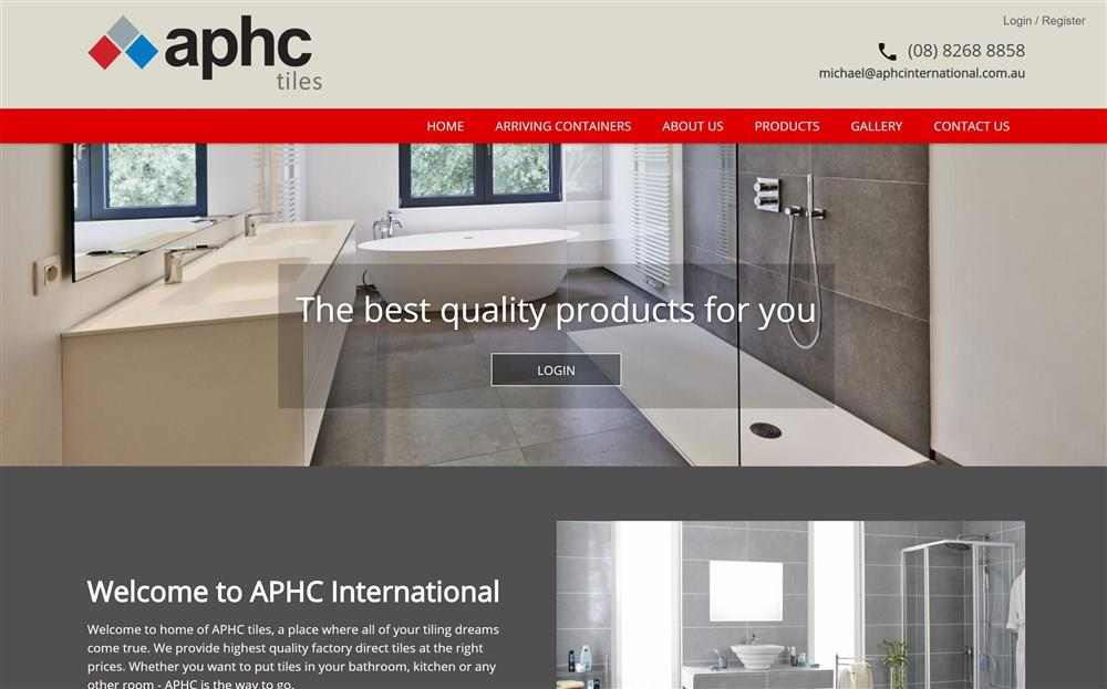 APHC Tiles Website Design
