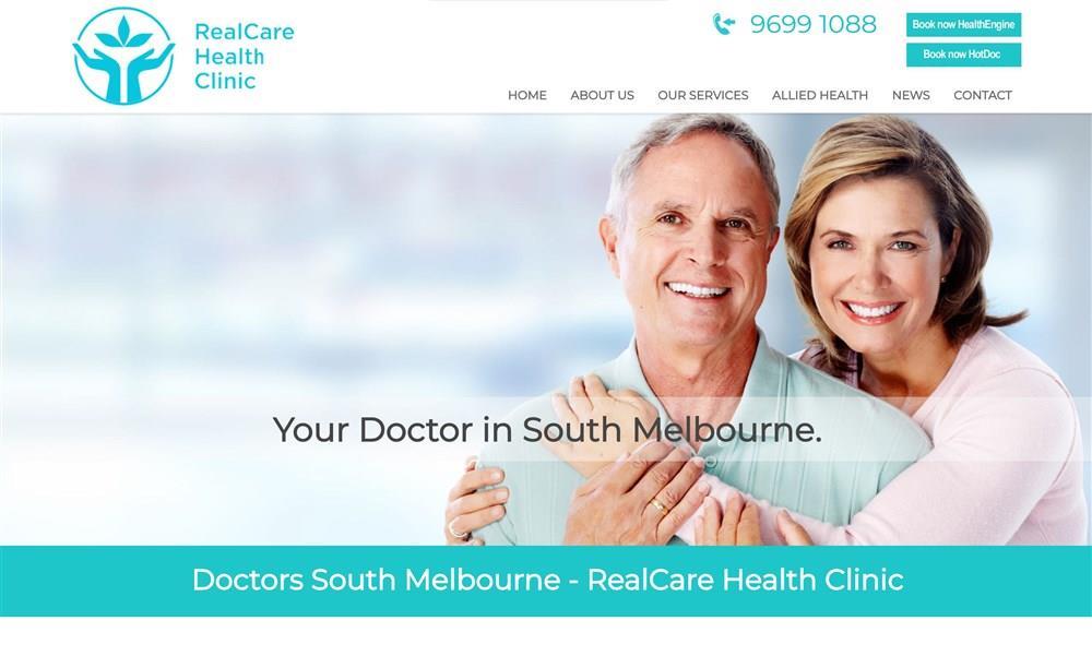 RealCare Health Clinic Website Design