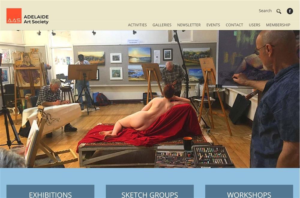 Adelaide Art Society Website Development