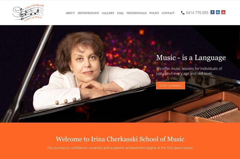 School of Music Website Design | Adelaide
