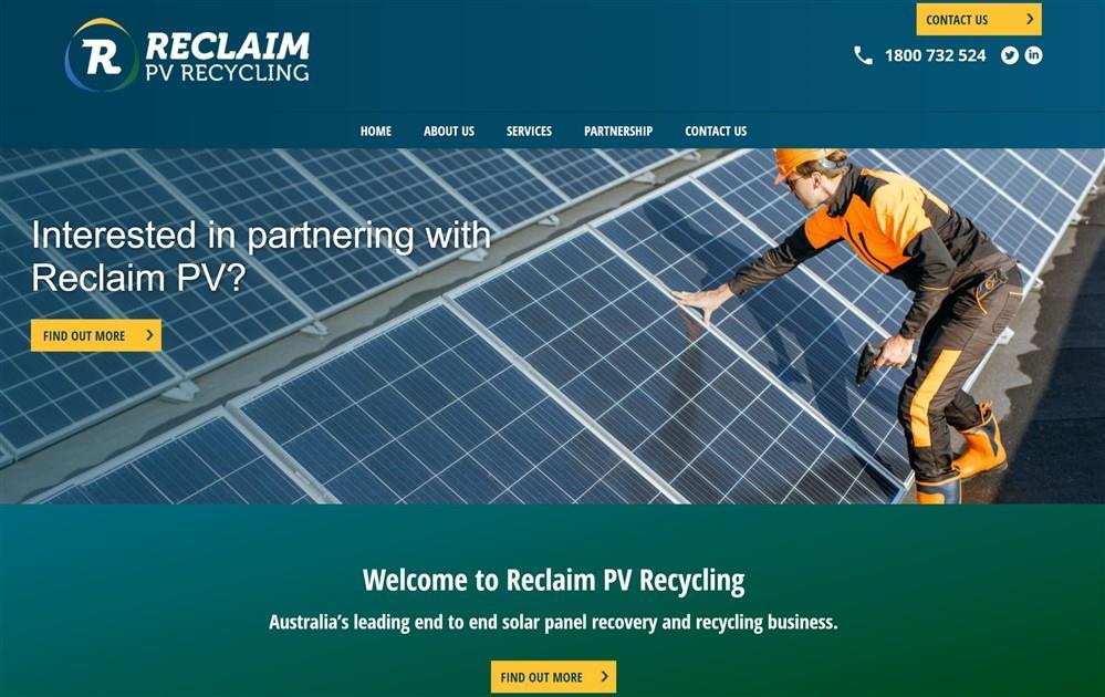 Reclaim PV Web Application | Adelaide