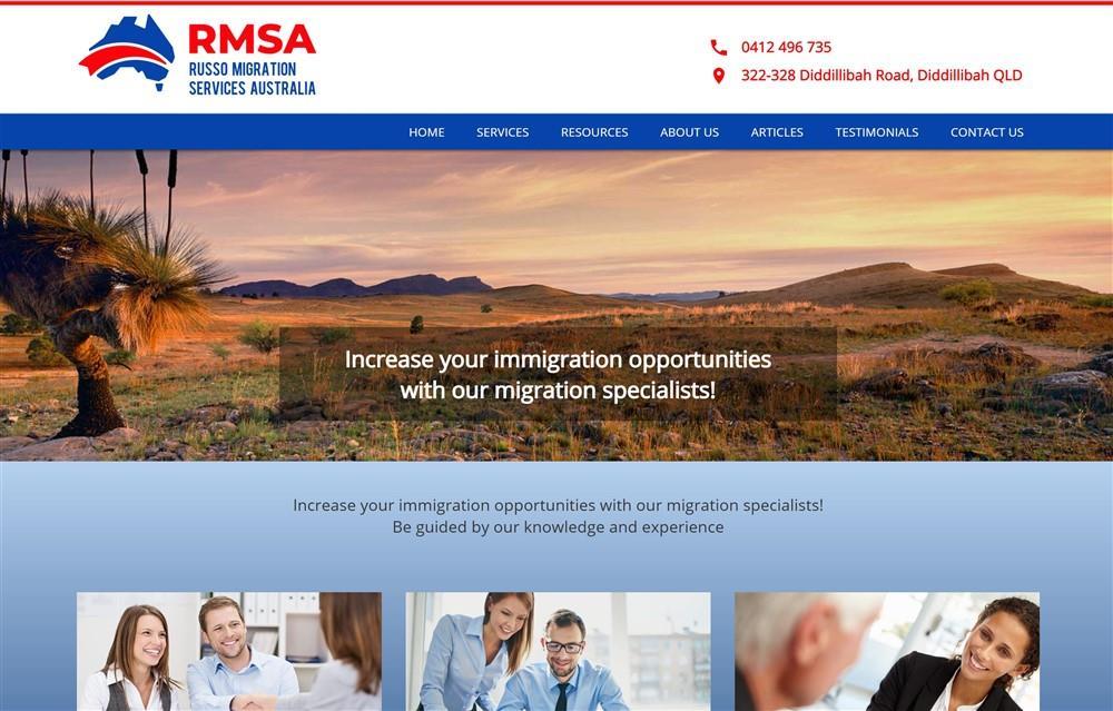 Russo Migration Services Website