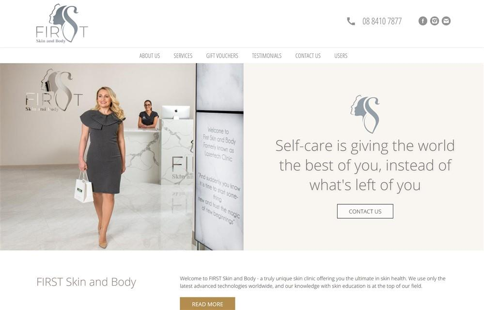 First Skin and Body Website Design