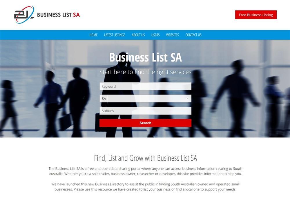 Business List SA Web Portal