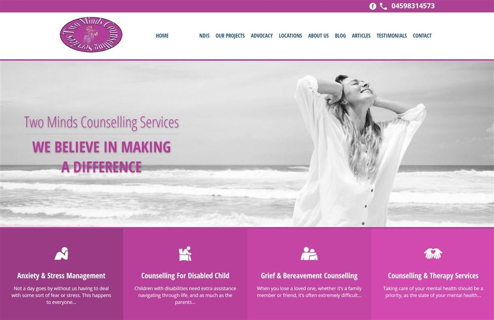 Two Minds Counselling Website