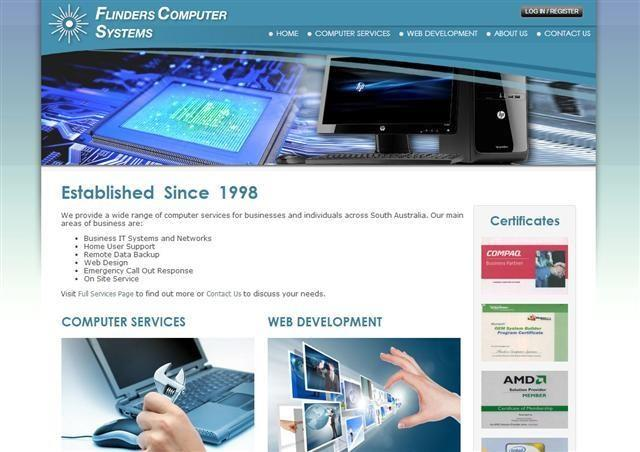 Flindrs Computers Website Development